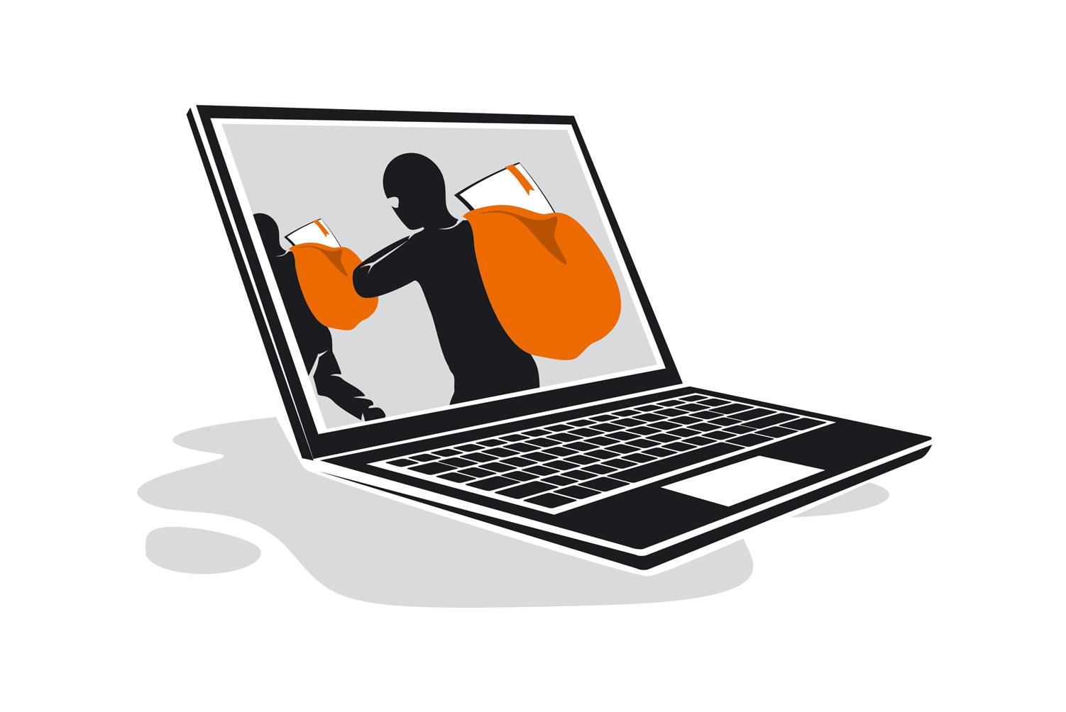 Andmete varastamise illustratsioon