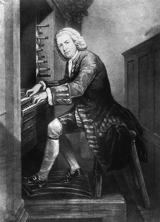 Johann Sebastian Bach oreliga. Allikas: https://commons.wikimedia.org/wiki/File:Bach-1725-Organ.jpg