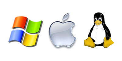 Kolm logo: Windows, Apple, Linux