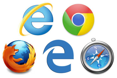 Viis logo: Internet Explorer, Chrome, Firefox, Edge, Safari