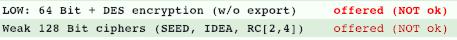 Halva tulemuse näide TLSist